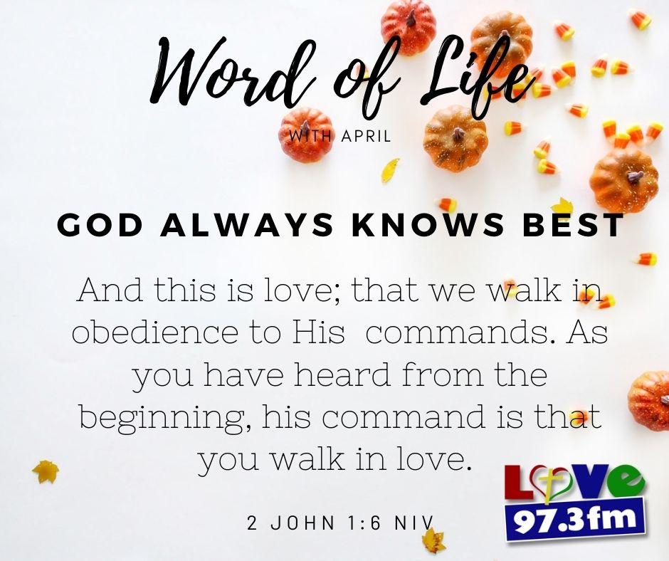 2 John 1:6 NIV